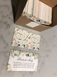 """Baby shower """"books for baby"""" inserts Toronto, M5A 0P1"""