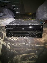 black 1-DIN car stereo head unit Houston, 77089