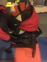 Baby stroller with car seat and car seat base
