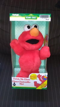 TYCO Sesame Street 1996 Tickle Me Elmo BRAND NEW!!!.  1st YEAR OF TICKLE ME ELMO!  1996 Tyco Original Tickle Me Elmo Elmo shakes and laughs when tickled! Press again and he laughs longer. Press a third time and he shakes and laughs like crazy! Ages 18 mos Toronto