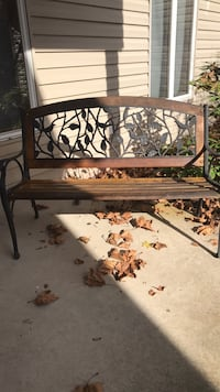 brown wooden framed glass top table 160 mi