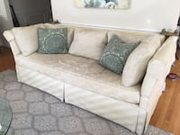Ivory silk sofa couch Falls Church, 22042