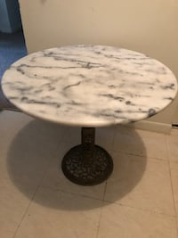 Marble table with brass stand