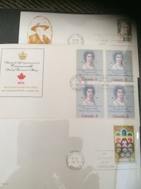 CANADIAN FIRST DAY OF ISSUE STAMPS RANGING FROM 1973 TO 1993