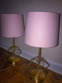 two white-and-brown table lamps Laurel, 20724