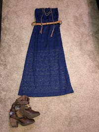 Navy blue lace dress,Cowboy boots w/Gold Accents & accessories!   Wichita, 67207