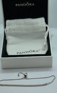 PANDORA STERLING SILVER BRACELET WITH PINK STONES 3.0GR WITH BOX AND POUCH VERY GOOD CONDITION 842024-1 Baltimore, 21205