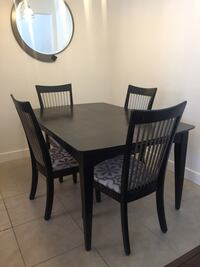 Black wood dining room table and chairs Los Angeles, 90049