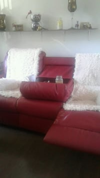 red and white fabric sectional sofa Montreal, H1B 4J3