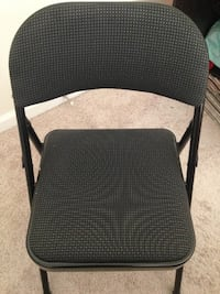 Folding steel chair with padding in a very good condition