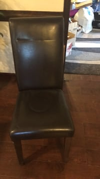 black leather padded armless chair Bloomsburg, 17815