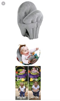 baby's gray and white bouncer Donna, 78537
