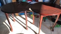 Round brown wooden side table Brampton, L6W 3A7