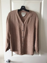 100% Silk Floral Patten Sweater Vancouver