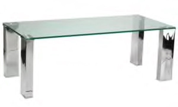 West Elm Glass & Mirrored Coffee Table