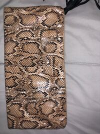Brown and black snakeskin leather clutch  Killeen, 76549