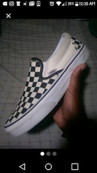 Checkered Vans size 7 men Washington, 20020