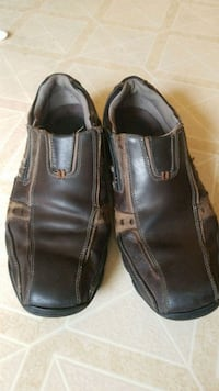 Mens brown leather loafer shoes Racine, 53402