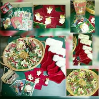 Christmas Wreath, Stockings, Ornaments