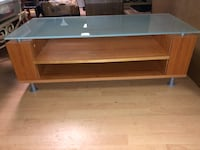 Glass Top TV Stand With Storage Shelves Vancouver, V6A 1A7