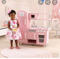 Kid kraft classic kitchen in pink