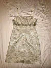 Georgeous Dress eggshell/silver size 4 by Laundry  Burke