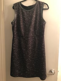 Large sleeveless stretchy dress with leather trim on neckline & arms. Edmonton, T5P 0T8