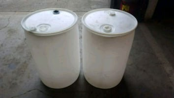 2 55 gal drums for sale
