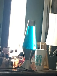 Blue lava lamp