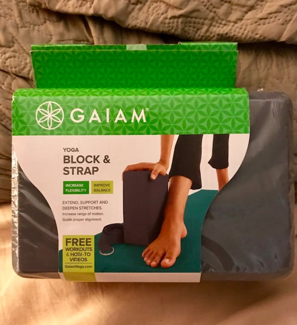 Used Brand New Unopened Gaiam Yoga Block Strap For Sale In Brookhaven Letgo