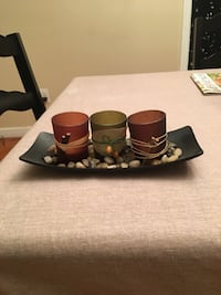 Candle holder tray