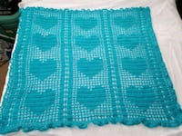 Heart baby afghan. New handmade Clermont, 34714