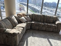 Sectional sofa with pull out bed and reclining chair TORONTO