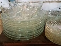 clear cut glass bowl set Montgomery Village, 20886