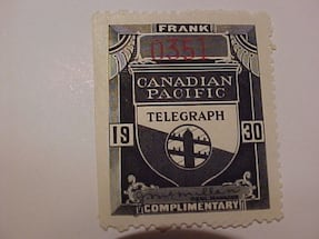 This Is Neat Canadian Pacific Railways Canada Revenue Stamp