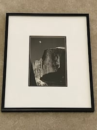 Ansel Adams black metal framed reproduction of Moon & Half Dome Sterling, 20166