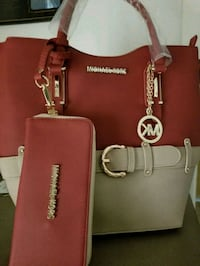 red Michael Kors leather tote bag Houston, 77083
