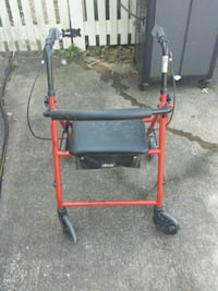 black and red rollator walker Suffolk, 23434