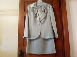 Silver Skirt Suit