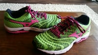 green-and-pink Nike running shoes Boca Raton
