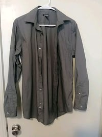 grey button up shirt made by George size s Greenville