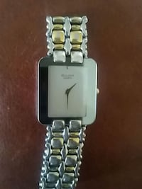 rectangular silver analog watch with silver link bracelet Riverview, E1B 3G9