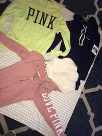Small PINK sweaters $20 each or $50 for all (yellow one is a medium) Bolingbrook, 60440