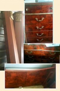 ALL FOR $600.00!!!!AWESOME CHERRY WOOD BEDROOM SET. READY FOR SHOWING!
