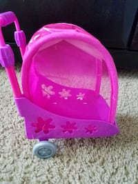 Doll animal stroller with bunny