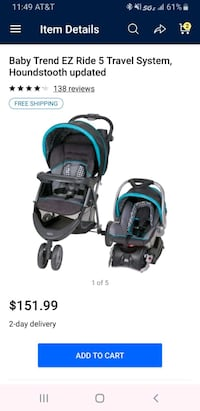 Baby trend ez ride stroller only Spring Grove, 17362
