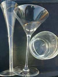 New Gold brushed glassware Fort Lauderdale