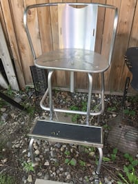 Steel swivel chair