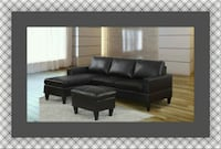 Black sectional free ottoman and delivery Temple Hills