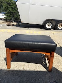 black leather ottoman Chesapeake, 23324